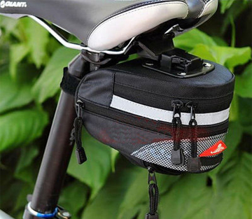 Black  Cycling Bike Top grade Bicycle Saddle Seat Rear Bag Quick Release