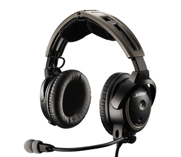 Bose A20 Aviation Headset with Bluetooth (aircraft powered - 6-pin connector)