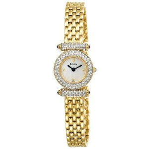 Bulova Women's 98L124 Swarovski Crystal Accented Mother of Pearl