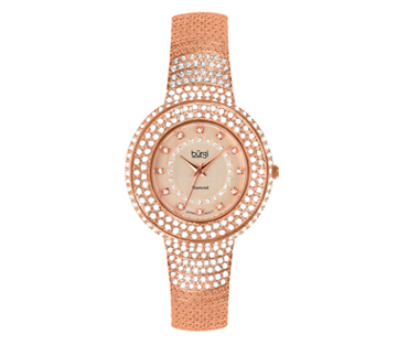 Burgi BUR048RG Diamond Quartz Crystal Bracelet Womens Watch