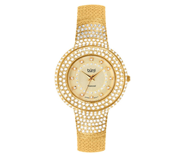 Burgi BUR048YG Diamond Quartz Crystal Bracelet Womens Watch