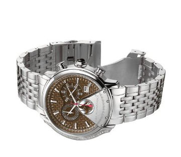 Cal Alexander Men's CHRONOGRAPH Stainless Steel Chocolate Dial 0.145ctw Diamond