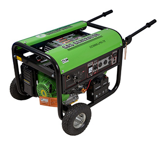 Greenpower 2-Wheel LPG Generator Set CC5000T2-LPG