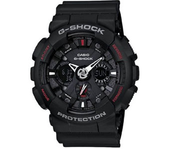 Casio G Shock Analog Digital Black Dial Mens Watch CSGA120-1A