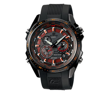 Casio Edifice Watches Featuring Tough Solar Power System and Chronograph Driven by Five Motors