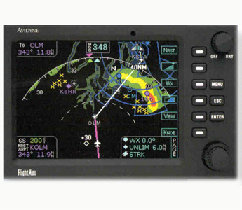 "AVIDYNE FLIGHTMAX 650 MFD ""NEW"" W RDR-150/160 RADAR I-FACE"
