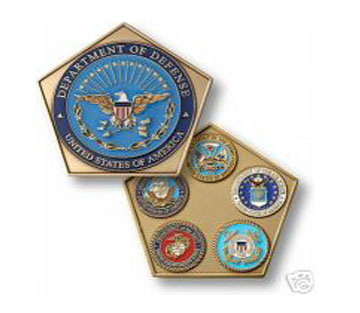 Department Of Defense Pentagon With Branch Seals Coin 76017