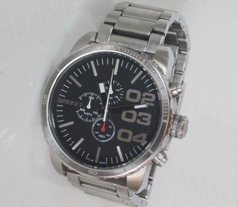 Diesel DZ-4209 Men's Oversized XL Black Chronograph Dial Stainless Steel Watch (Used)