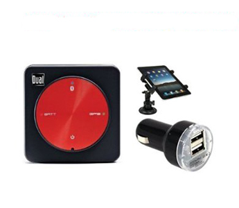Dual Electronics XGPS150A Universal Bluetooth GPS Receiver for Portable Devices (Universal Tablet Mount And Charger Deluxe Kit)