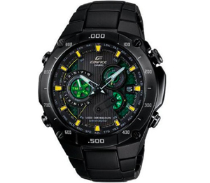 Casio - Quartz Edifice Multiband 6 Solar Atomic Black Dial Men's