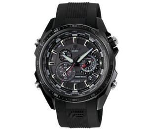 Casio Edifice Quartz Black Dial Black Band - Men's Watch EQs500C