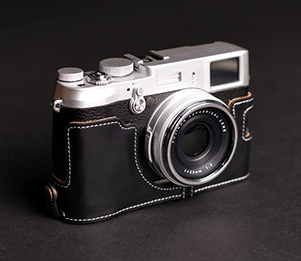 TP EZ Access Camera Half Case for Fujifilm X100S Fuji Cow Leather + Neck Strap
