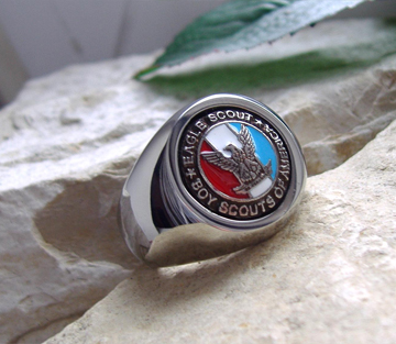 Eagle Scout Boy Scouts BSA Surgical Silver Steel Ring M3