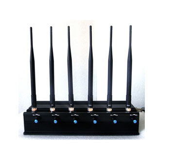 Adjustable 15W 3G/4G Jammer High Power Cell phone  with 6 Powerful Antenna ( 4G LTE +Wimax)