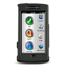 Garmin-Asus nuvifone G60 Rubber Snap On Cover Case (Black)