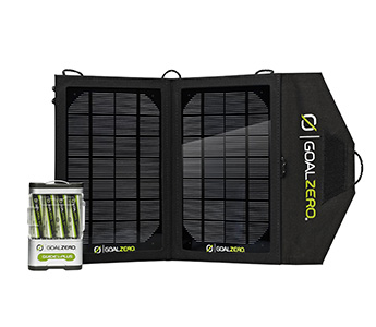 Goal Zero Nomad 7 USB Solar Charger Kit with 4 AA Batteries