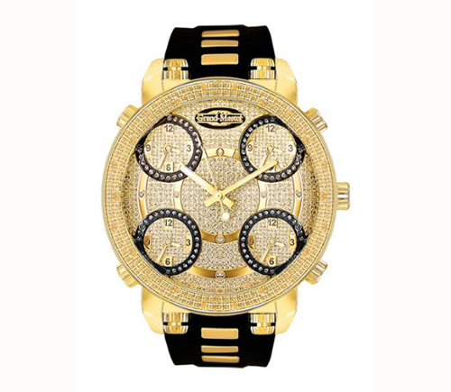 Grand Master Mens Diamond Watch GM5-50Y - Five Time Zone