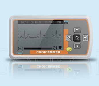 Handheld ECG EKG Heart Monitor-MD100A1 with 3 Lead Cable, CD and Electrodes