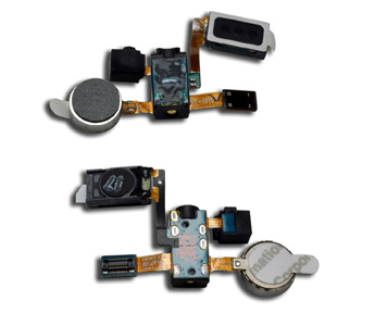Headphone Jack Vibrator Flex Cable Earpiece Speaker for Samsung Galaxy S2 i9100