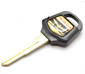 Honda GL1800 GL18 GoldWing18 GoldWing Logo GoldWing1800 Gold Wing Key Black GL1 [KEY HGL1 B]