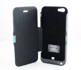 External Battery Back Case for iPhone 5 4200mAh with Flip Cover