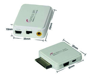Wireless Audio&AV video output Transmitter for iPhone 4 & 4S / 3G/3GS / iPad / iPod