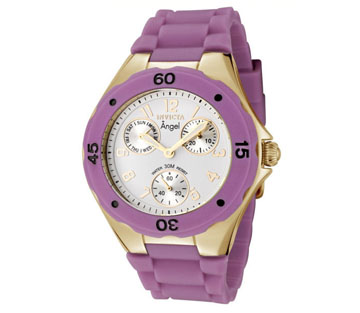 Invicta 0710 Angel Jellyfish Date & Day Silicone Strap Womens Watch
