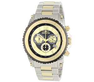 Invicta Men's 1011 II Collection Chronograph 18k Gold-Plated and