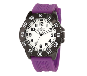 Invicta 11406 Specialty Sport Lume Diver Purple Polyuethane Strap Mens Watch