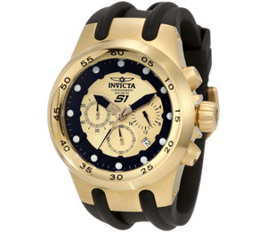 Invicta Men's 1511 Specialty Chronograph Gold Dial Black Polyure