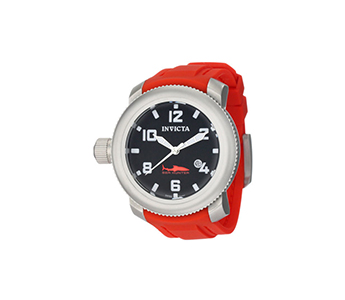 Invicta 1691 Sea Hunter Swiss Quartz Red Polyurethane Strap Mens Watch