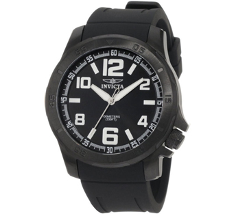 Invicta 1911 Specialty Quartz Stainless Case Polyurethane Strap Black Mens Watch
