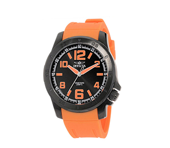 Invicta 1919 Specialty Chronograph Black Dial Orange Rubber Strap Mens Watch