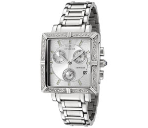 Invicta Women's 5377 Square Angel Diamond Stainless Steel Chrono