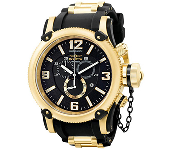 Invicta 5670 Russian Diver 18k Gold Plated Anniversary Edition
