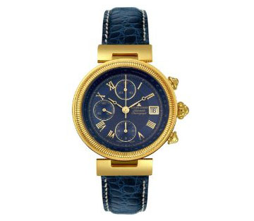 Jacques Lemans Men's 861S-ABR06C Classic Gold-Plated Blue Alliga