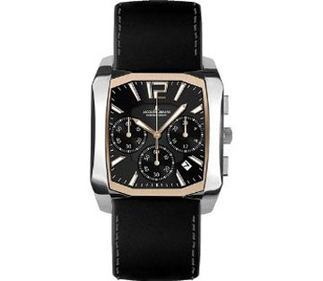 Jacques Lemans Rose Two Tone Stainless Steel Dublin Black Dial S