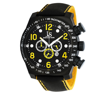 Joshua & Sons JS-14-YL Quartz Chrono GMT Mens Watch