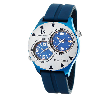 Joshua & Sons JS-33-03 Dual Time Quartz Mens Watch