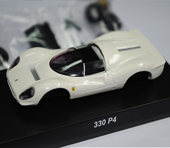 KYOSHO 1:64 Ferrari 330 P4 Model Diecast Color White Assembly Version