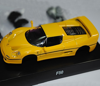KYOSHO 1:64 Ferrari F50 Model Diecast Color Yellow Assembly Version