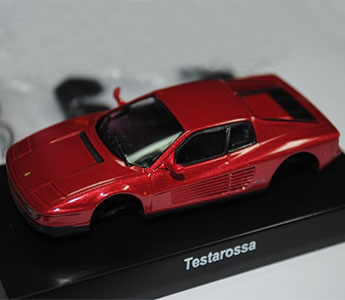 Kyosho 1:64 Ferrari Testarossa Model Diecast Color Dark Red Assembly Version
