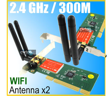 300M Lan 802.11n Wireless Wifi Network PCI Adapter Card