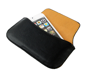 Leather Belt Case Bag for iPhone 5 (Black)