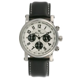Lucien Piccard Men's 26267WH Stainless Steel Chronograph Watch