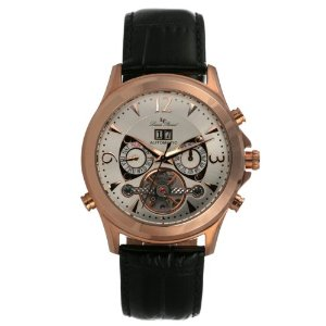 Lucien Piccard Men's 26928RO Skeletal Case Chronograph Watch