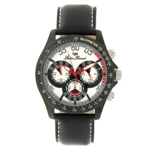 Lucien Piccard Men's 26959SL Black Ion-Plated Chronograph Watch