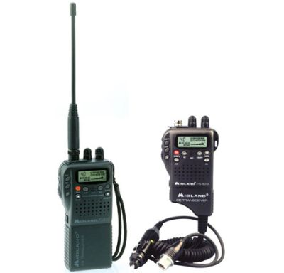 Midland 75-822 40 Channel Handheld CB with Mobile Converter Kit