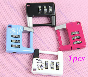 Mini Cute 3 Digit Combination Travel Luggage Suitcase Lock Padlock Security 14B