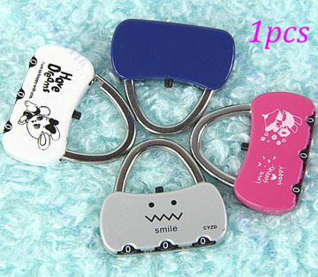 Mini Cute 3 Digit Combination Travel Luggage Suitcase Lock Padlock Security 25B